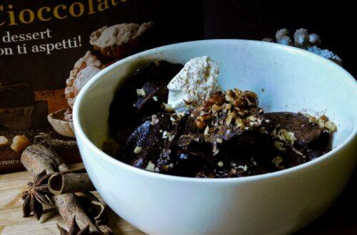 Ravioli dolci al cioccolato
