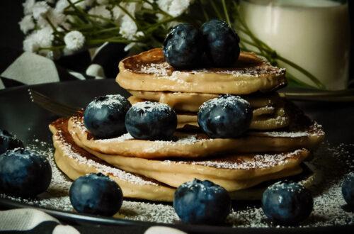 Pancake senza uova con proteine del cocco