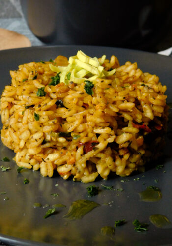 Risotto alle verdure con curry