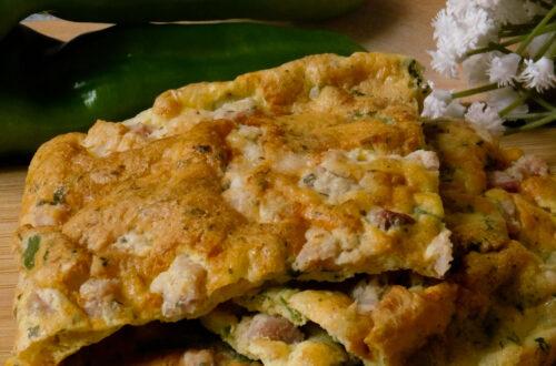 Frittata al forno con friggitelli e pancetta