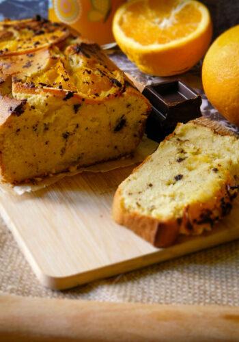 Plumcake all'arancia e cioccolato fondente