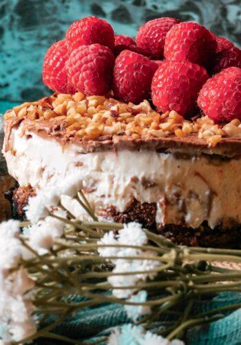 Mini cheesecake al cioccolato fondente